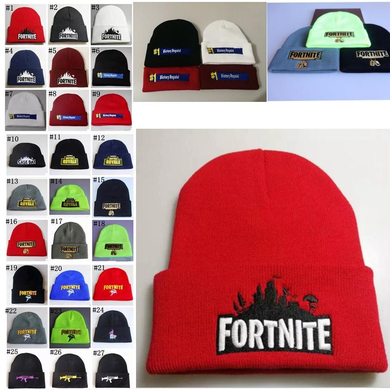5c0599756eb Fortnite Hats Fortnite Battle Knitted Beanies Hip Hop Embroidery ...