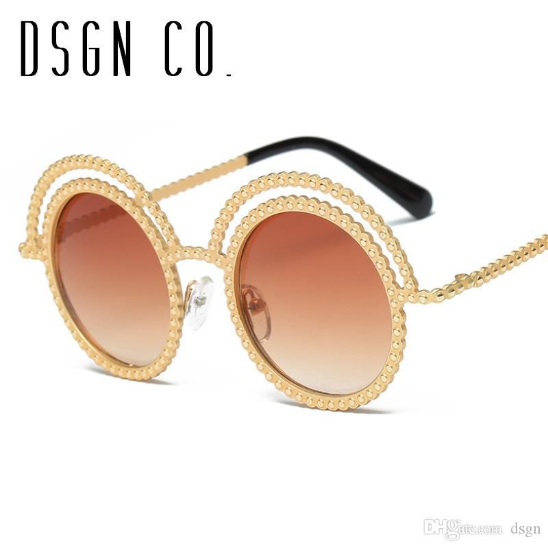 2d649cca47 2018 Gafas De Sol De Diamantes De Imitación De Cristal Para Mujer De Lujo  Marca es De Gafas De Sol De Diseño Redondo Uv400 A $4.65 Del Dsgn |  Dhgate.Com