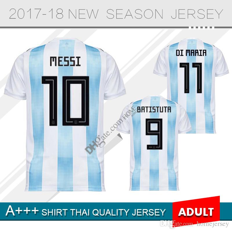 8c9dd169ad7 2019 2018 World Cup Argentina Soccer Jersey 2018 Argentina MESSI Home Blue  Soccer Shirt AGUERO DYBALA HIGUAIN ICARDI DI MARIA Football Uniform From ...