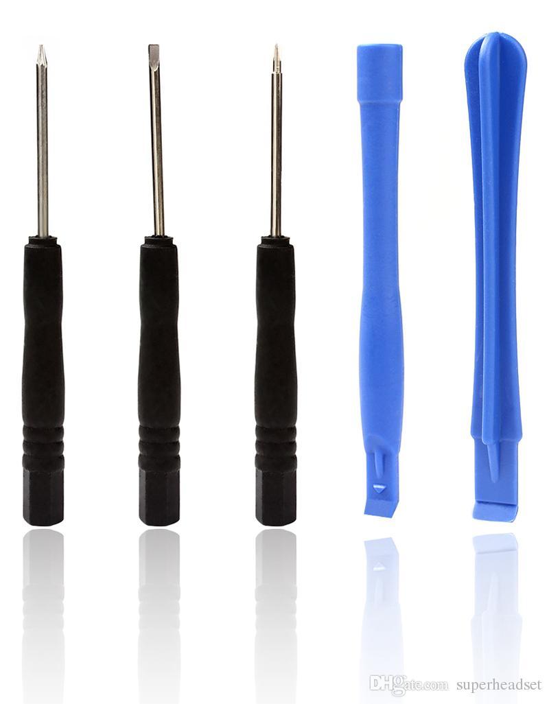 8 в 1 Открытие монтировку инструменты Отвертка комплект для ремонта отвертка для samsung i pone смарт-телефон с мешком opp
