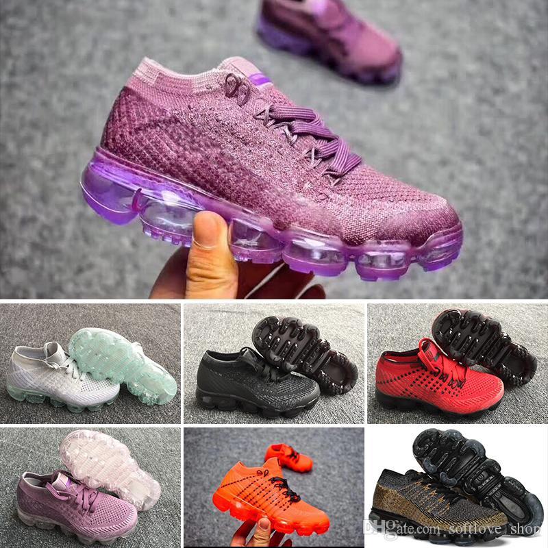 82ef082b0ad Acquista Nike Air Max Voparmax Con Scatola VM 2018 Sneakers Scarpe Da Corsa  Bambini Scarpe Da Ginnastica Ragazzi Ragazze Scarpe Bambini Formazione  Sport ...