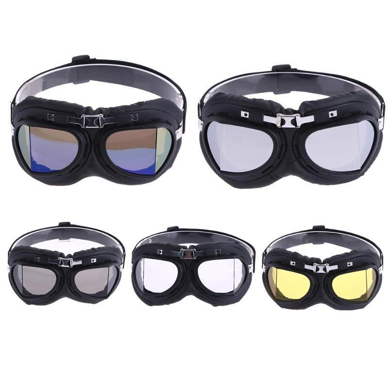 41198cf0fe 2019 Motorcycle Glasses Vintage Motocross Classic Goggles Retro Aviator  Pilot Cruiser Windproof Bike UV Protection Cycling Eyewear From Ranshu, ...