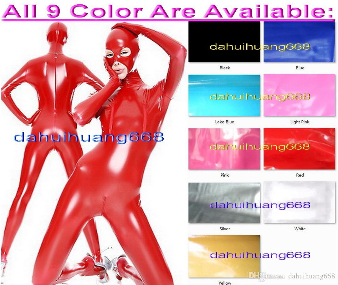 e0f4493d99 Sexy Red PVC Bodysuit Costumes Unisex New Shiny PVC Suit Catsuit ...