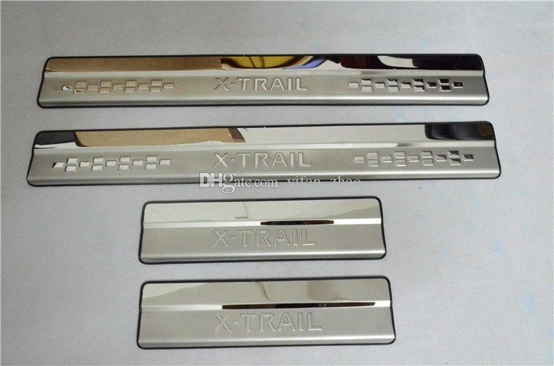 Car styling Door Sill Scuff Plate Trim Protector For Nissan X-Trail X trail Rogue T32 2014