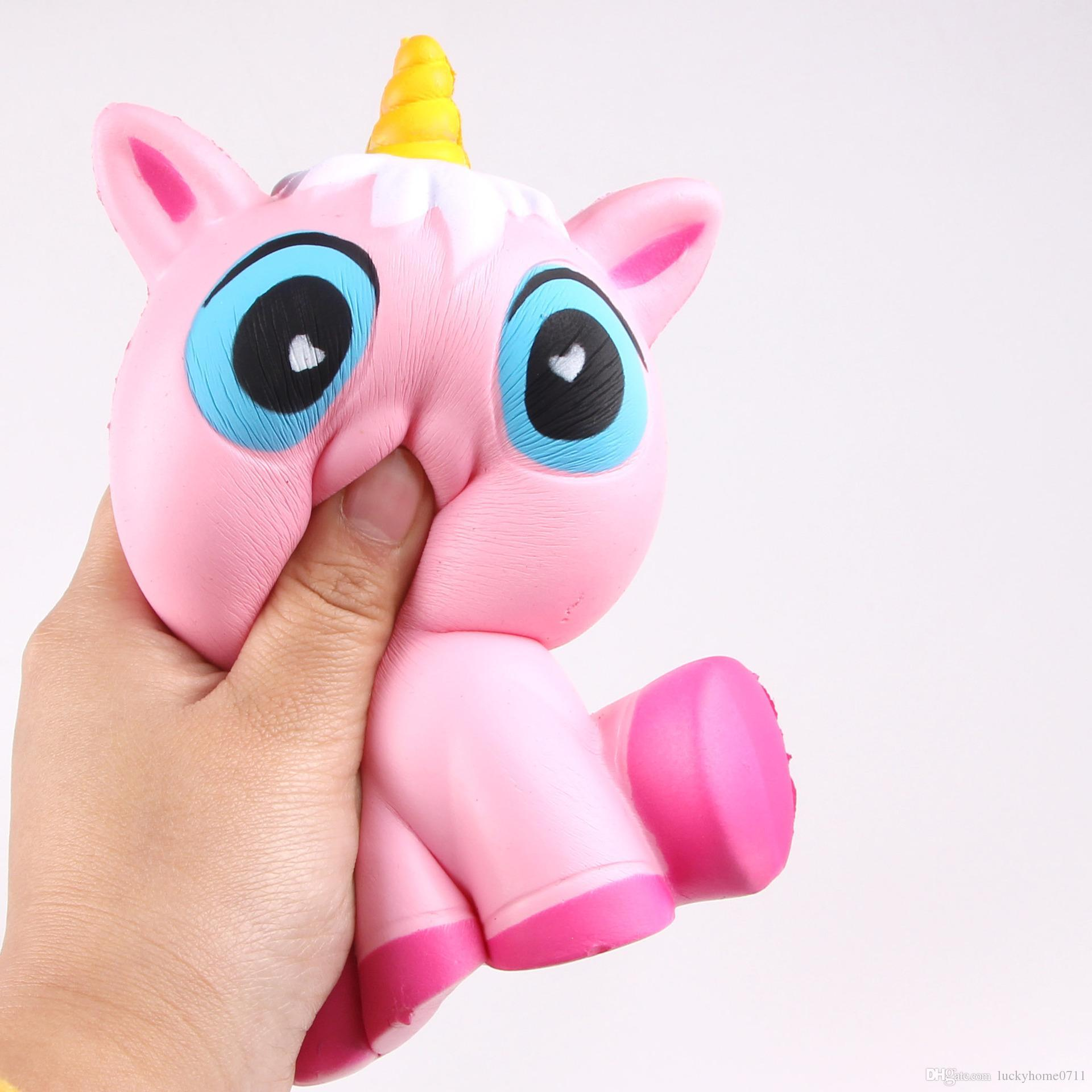 2018 Party Gift New Cute Cartoon Unicorn Squishy And Color Gradient ...