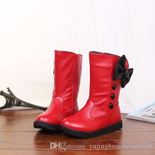 Compre 2018 Arco Alto Coreano Niñas Zapatos Al Por Mayor Niños Zapatos Botas  De Nieve Zapatos Calientes A  26.69 Del Yujinghuacheng1688  91418ea3154