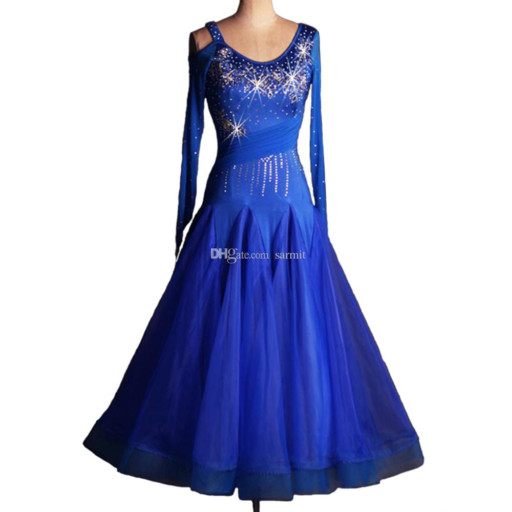 Luxury Ballroom Dance Competition Dresses Flamenco Standard Dance ...