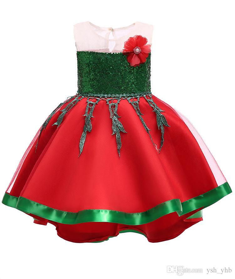 Acquista Neonate Fiore Vestito Bambini Natale Principessa Abiti 2018 Moda  Ball Gown Abbigliamento Bambini i Vendita Calda A  10.16 Dal Ysh yhb  3143f1da1e9