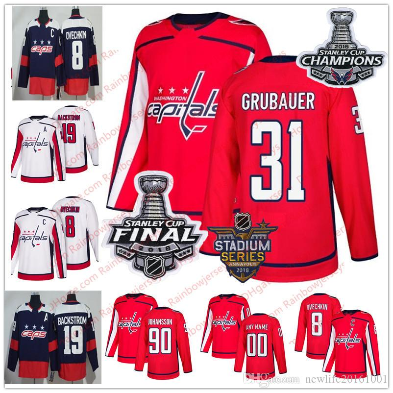 2019 Washington Capitals  25 Devante Smith Pelly 31 Philipp Grubauer 29  Christian Djoos 39 Alex Chiasson White 2018 Stanley Cup Champions Jerseys  From ... 2981495c720