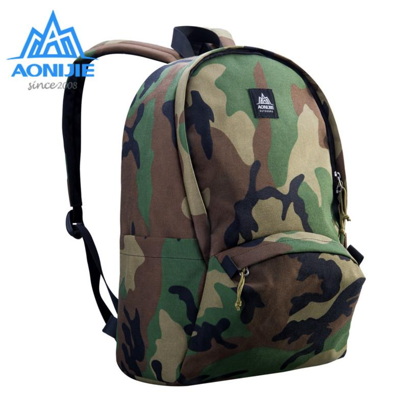 AONIJIE Outdoor Camouflage 14in Laptop Backpack Water Resistant Travel  Computer Camo Rucksack SchoolBag Climbing OutdoorBackpack Rolling Backpacks  Backpacks ... 8c8145a11a875