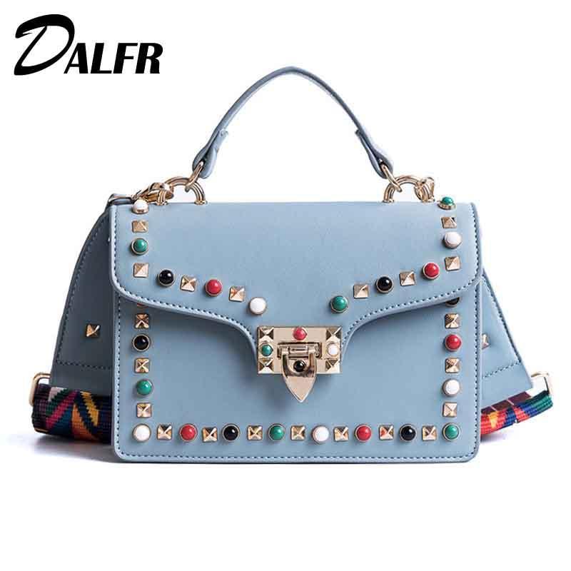 f98127bc5026 Top Handle Bags For Women 2018 Tote Shoulder Female Bag Ladies Messenger Bag  Luxury Handbags Women Bags Designer Bolsa DALFR Handbag Wholesale Womens  Bags ...