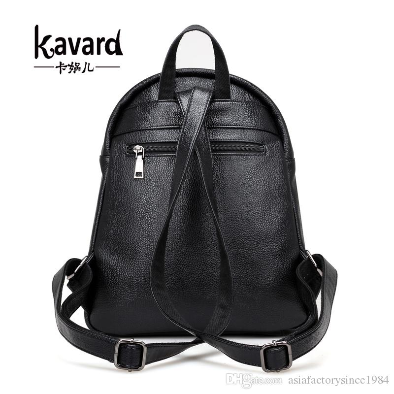 7e65b07c7c Fashion Backpack Women School Bags For Teenager Black Small Backpacks High  Quality Girls Spring PU Leather Back Pack 2017 Rolling Backpacks Backpacks  For ...