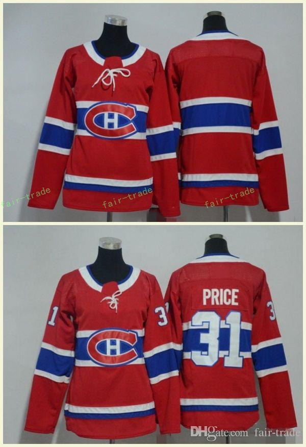 official photos e7b51 baaa5 Montreal Canadiens 31 Carey Price Jerseys Blank NO Name Red All Stiched  Hockey Jersey Men Women Youth Kids Boy Girls