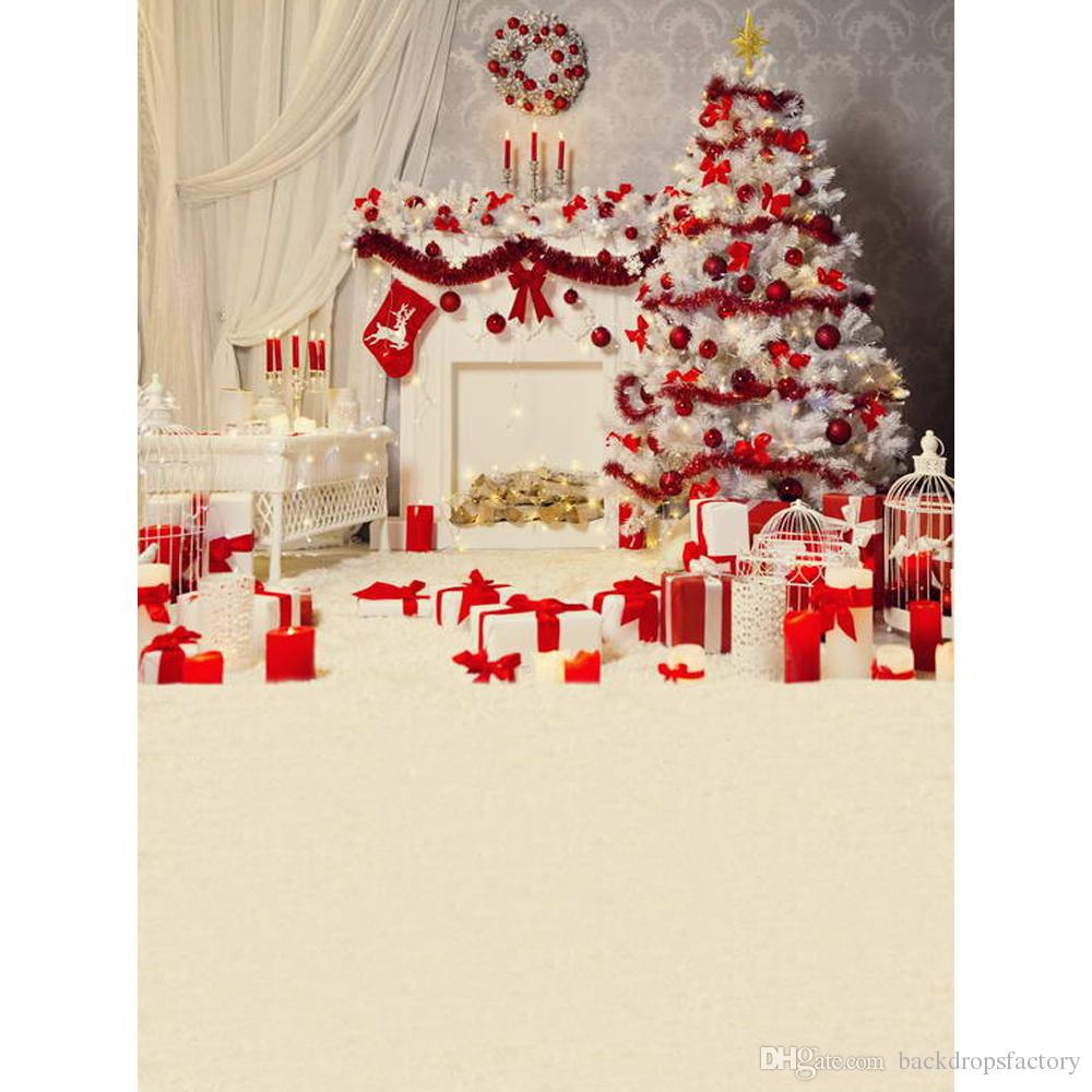 2019 Merry Christmas Party Photography Backdrop Indoor Printed White