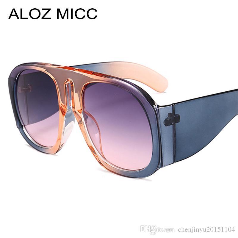8ffa27ae4353 ALOZ MICC New Italy Brand Women Pilot Sunglasses Men Designer Big Frame Sun  Glasses Fashion Unisex Goggle Eyewear UV400 A468 Luxury Sunglasses Designer  ...