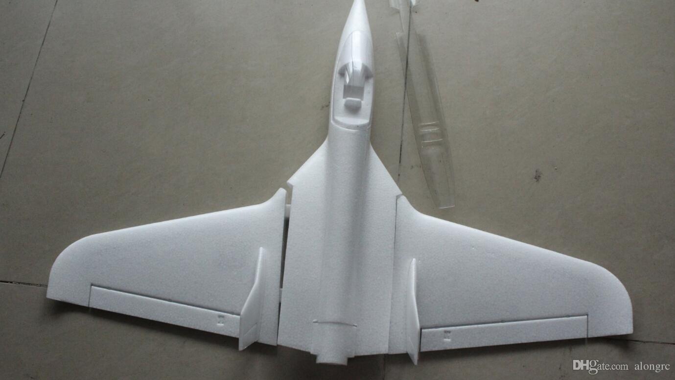 Bester Preis Heißer Verkauf EPO RC Flugzeug Fliegenflügel Weiß Funjet Kit nicht zusammengebauter Kit nur Schaumstoff und Stabteil / kein Kleber und kein Radio-ESC.