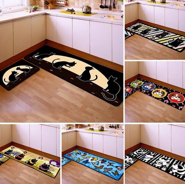 50 * 80cm 40 * 120cm tapis de cuisine tapis de cuisine anti-fatigue tapis  de cuisine entrée / couloir paillasson tapis anti-dérapant / tapis 2pcs /  ...