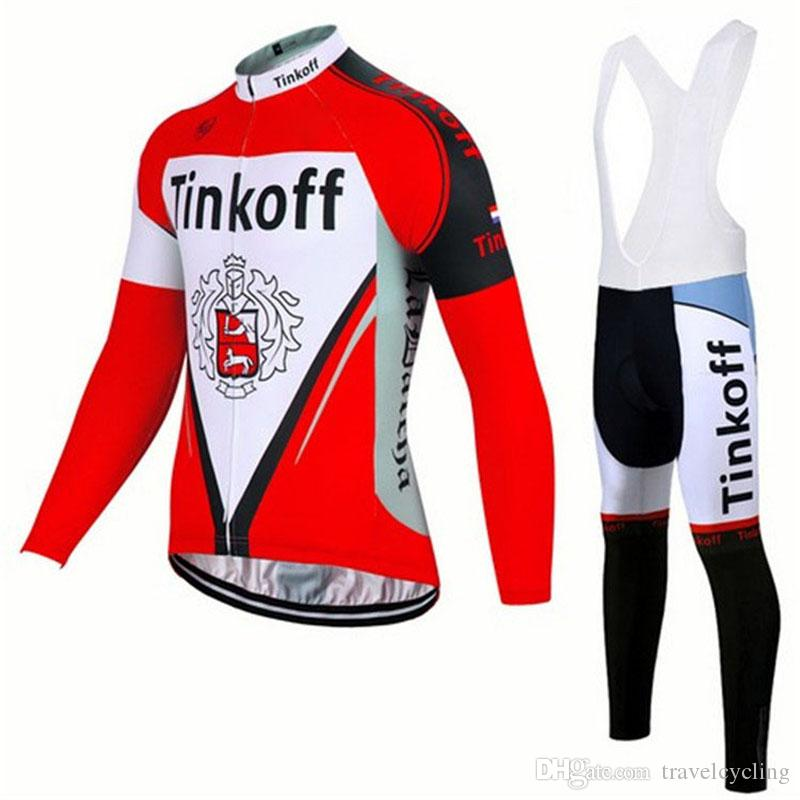 SAXO BANK TINKOFF Cycling Jersey Suit Breathable Quick Dry Long Sleeve Men  Mountain Bike Clothing Tour De France Bicycle Clothes 111409Y Cool Cycling  ... 376f01edf