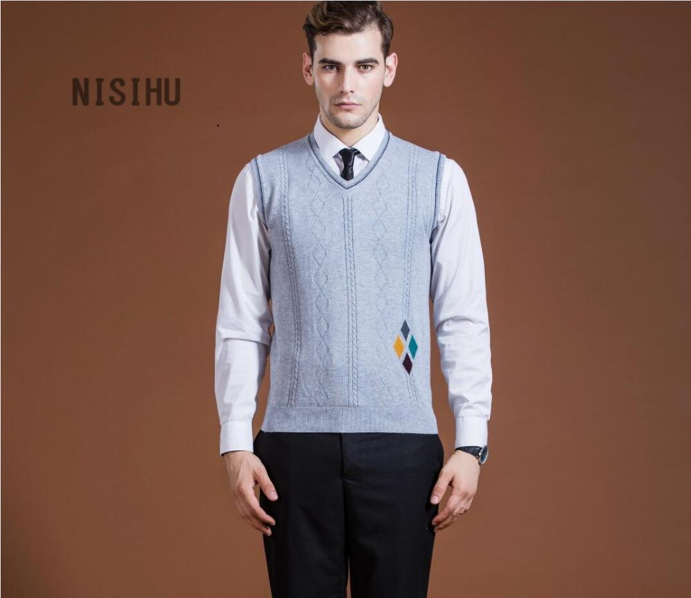 2019 New Style Mens Fashion Formal Vest Diamond Front Sweater Intarsia Wool Sweater  Vest From Michalle 36ca06e38