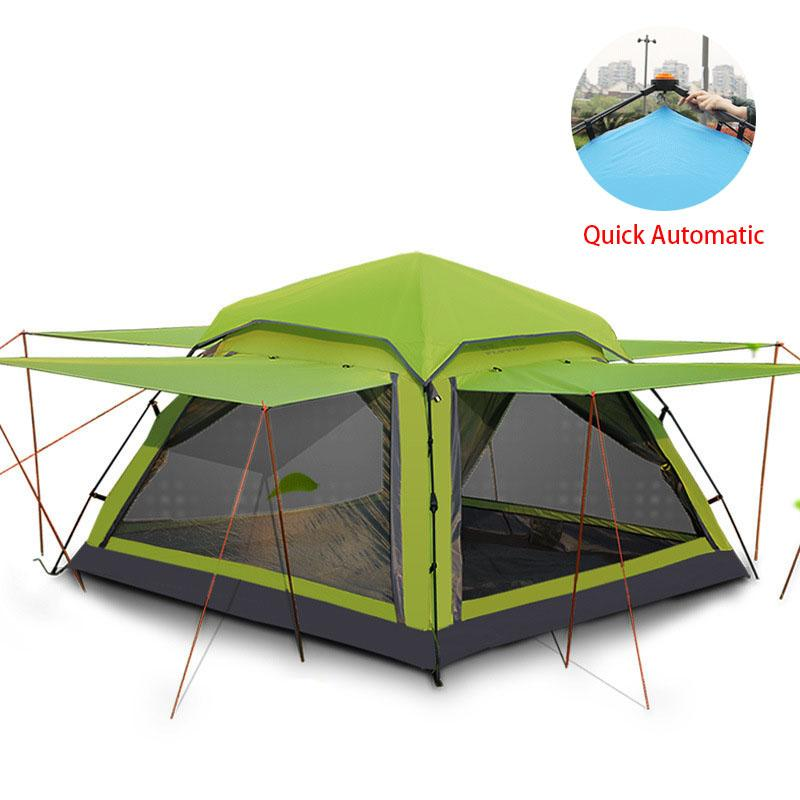 Flytop 3 4 Person Waterproof Tent Ultralight Quick Automatic Opening