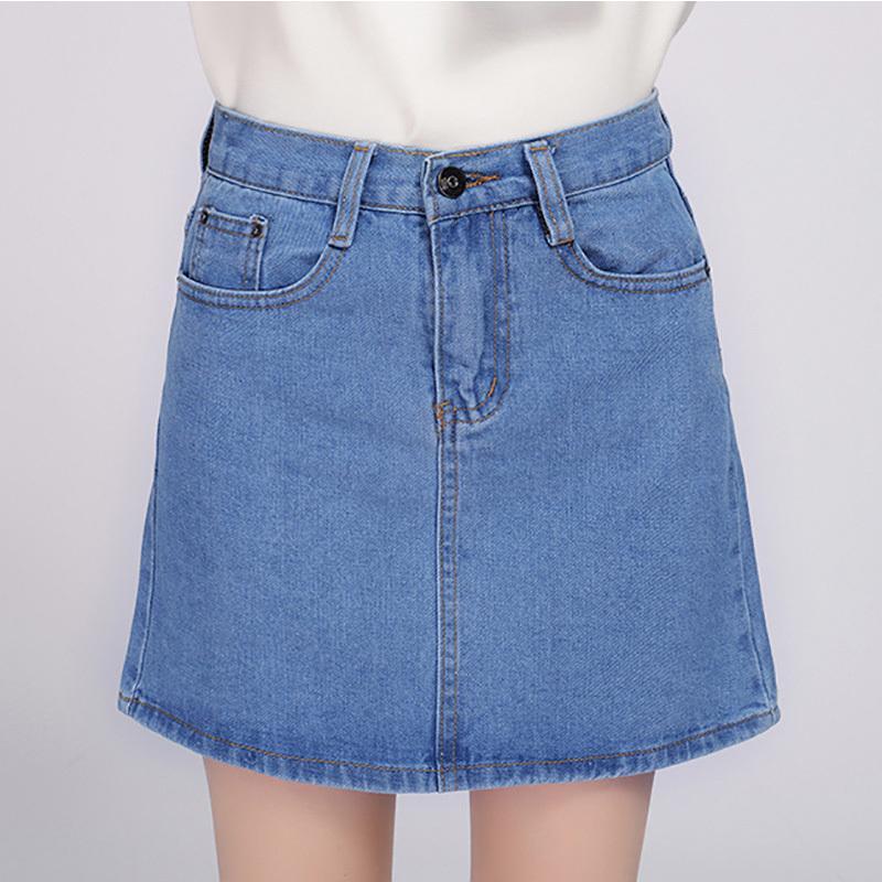 Compre 2018 Denim Falda Mujeres Invierno Otoño Vintage Casual Mujer A Line  Jeans Oficina De Las Señoras Mini Falda Saia Plus Tamaño S 3XL es D1891802  A ... d106228ac63b