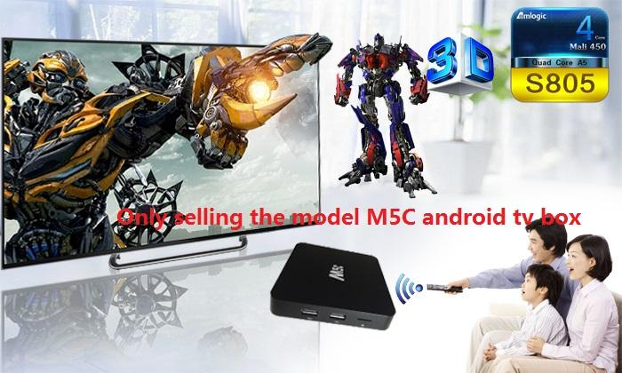 M5C Android tv box Quad core S805 optional evmax arabic Italy Spain Sweden  USA BRAZIL UK France Africa iptv good than Qhdtv