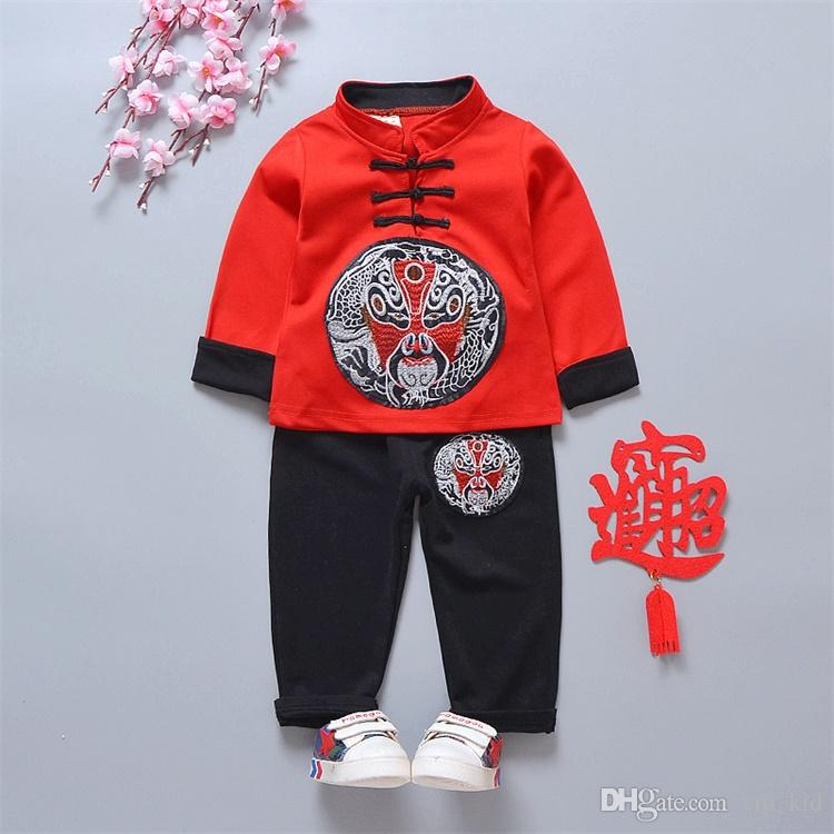 f5948b909 2019 Summer Sets Clothes Sets Autumn New Boys National Wind Suit ...