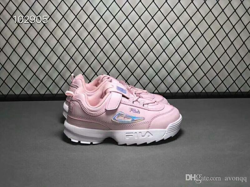 139b25988d Compre Filhos FILA II 2 Mulheres ARQUIVO Sapatos Seção Especial Sapatilha  Esportes Aumento De Sapatos De Moda Casual Wear Sapatos De Corrida De Couro  Wx7 De ...