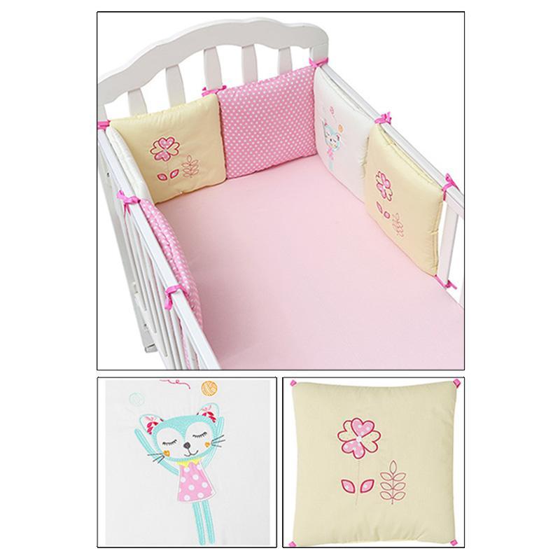 Heißer Verkauf 6 Teile / los Babybett Stoßstange in der Krippe Kinderbett Stoßstange Babybett Schutz Krippe Stoßstange Neugeborenen Kleinkind Bett Bettwäsche Set