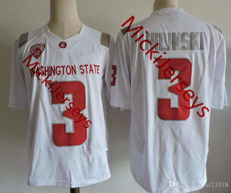 2019 Mens Washington State Cougars Tyler Hilinski College Football Jerseys  Stitched White  3 Tyler Hilinski Washington State Cougars Jersey S 3XL From  ... 6eed1669b