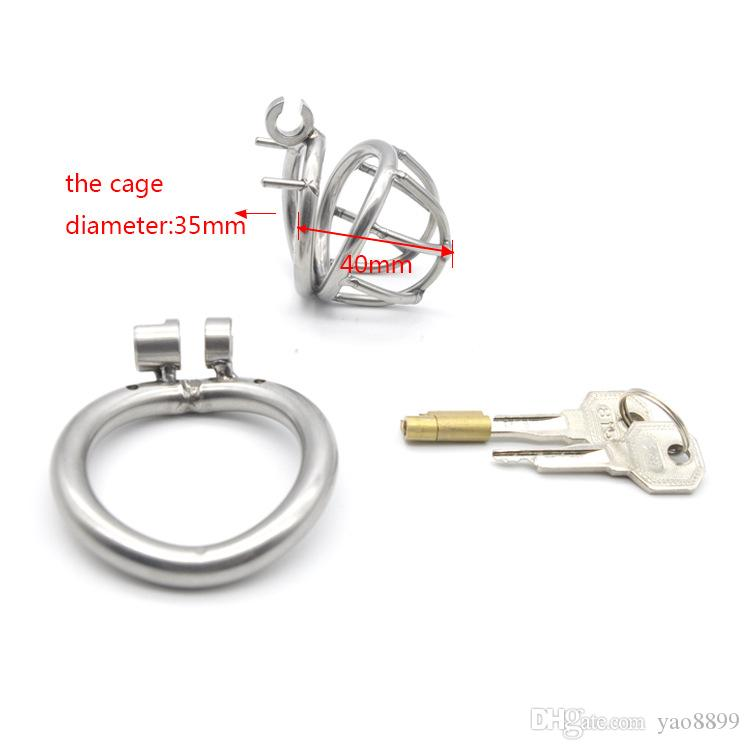 Male Chastity Device Stainless Steel Metal Cock Rings Penis Cage BDSM Sex Toys For Men Chastity Devices Cock Cages W778