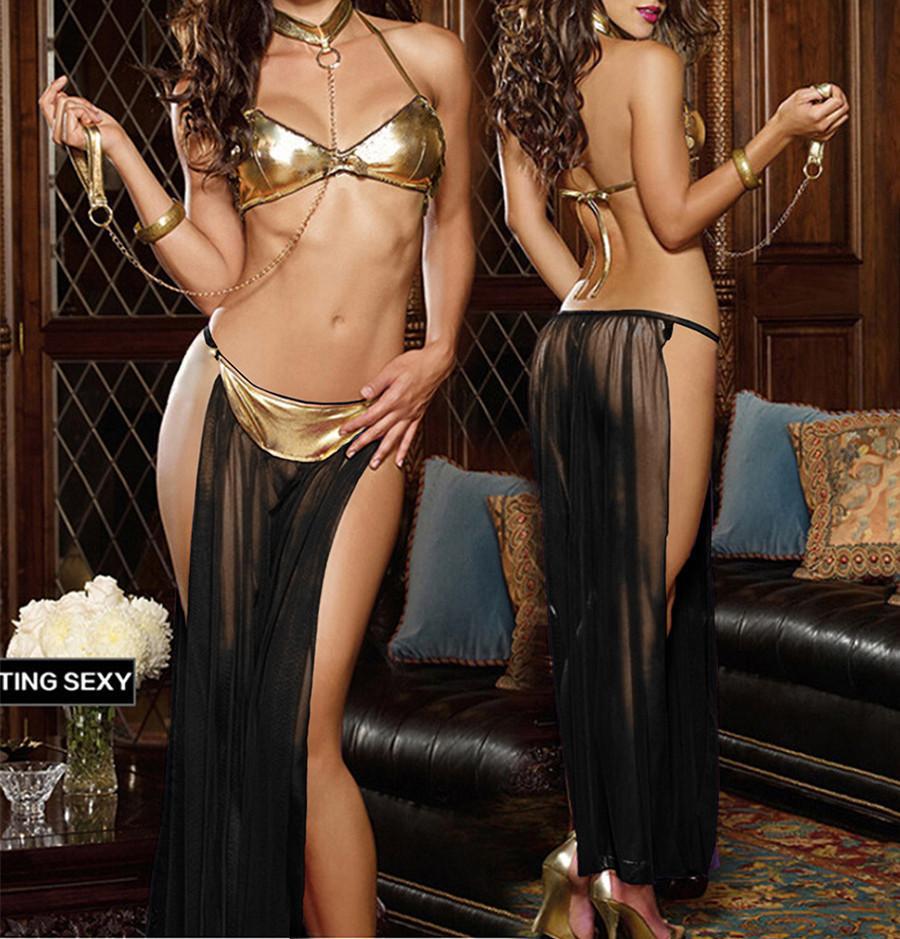 Seksowna Seksowna Taniec Bielizna Lenceria Seksowna bielizna Zestaw Bikini Perspektywa Dress Kajdanki Seksowne Kostiumy Babydoll Erotyczna Bielizna