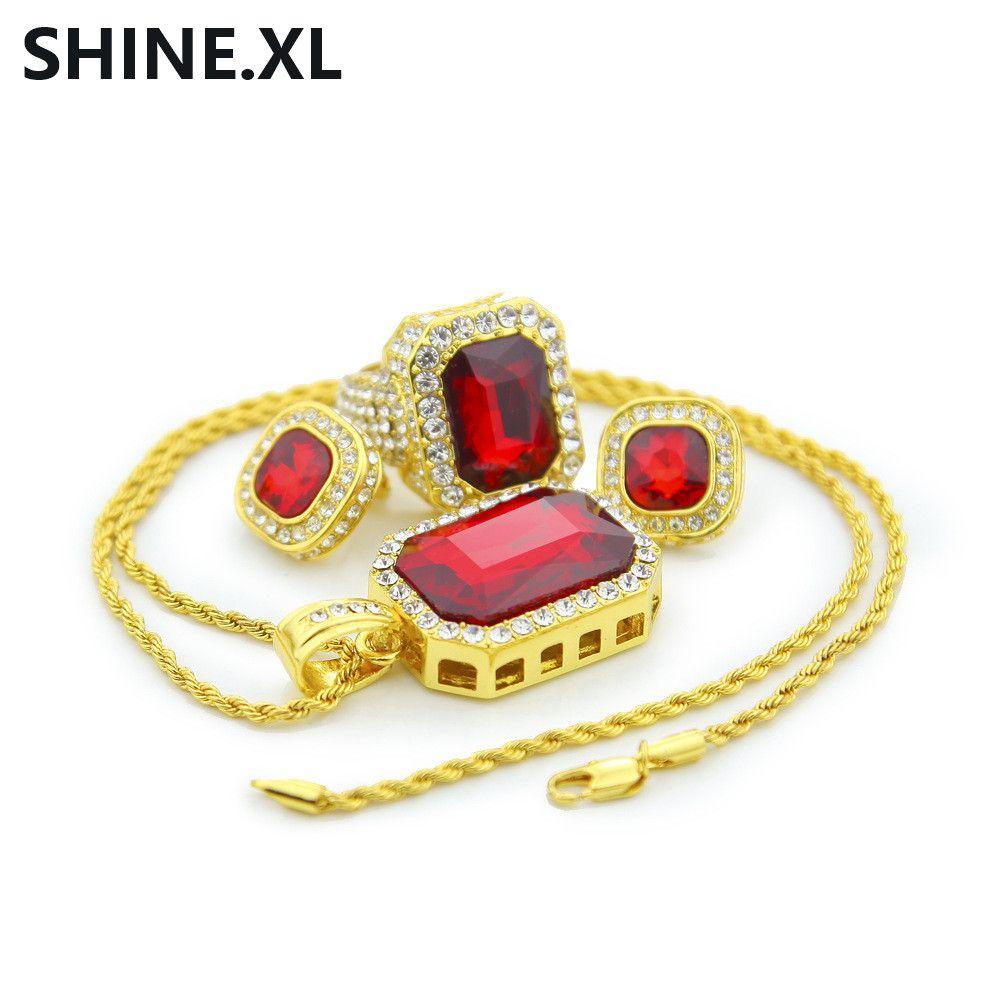 Compre New Fashion Wedding Jewelry Set Cor Prata Colar De Diamantes   Brinco    Anel Set Escolher Tamanho Para O Anel De Livex516,  15.08   Pt.Dhgate.Com 340abdc3f2
