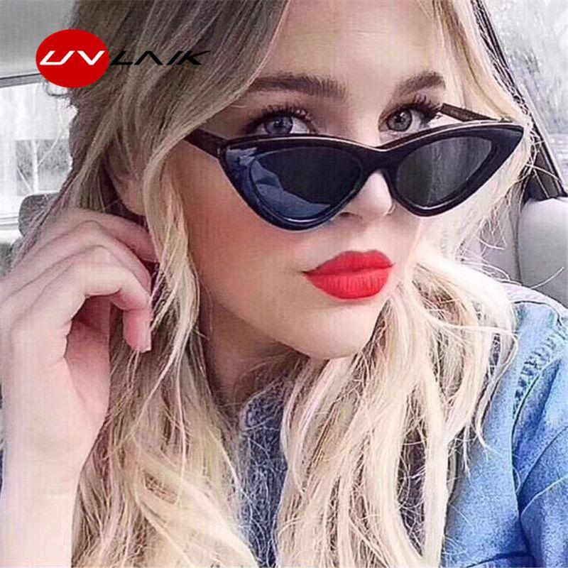 c37d223d603 UVLAIK Fashion Cat Eye Sunglasses Women Brand Designer Vintage Retro Sun Glasses  Female Fashion Cateyes Sunglass UV400 Shades Sunglasses Online Sunglasses  ...