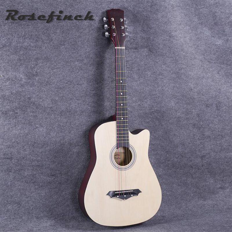 Hot Selling 38 Inch Acoustic Guitar Beginners Practice Guitar Wood