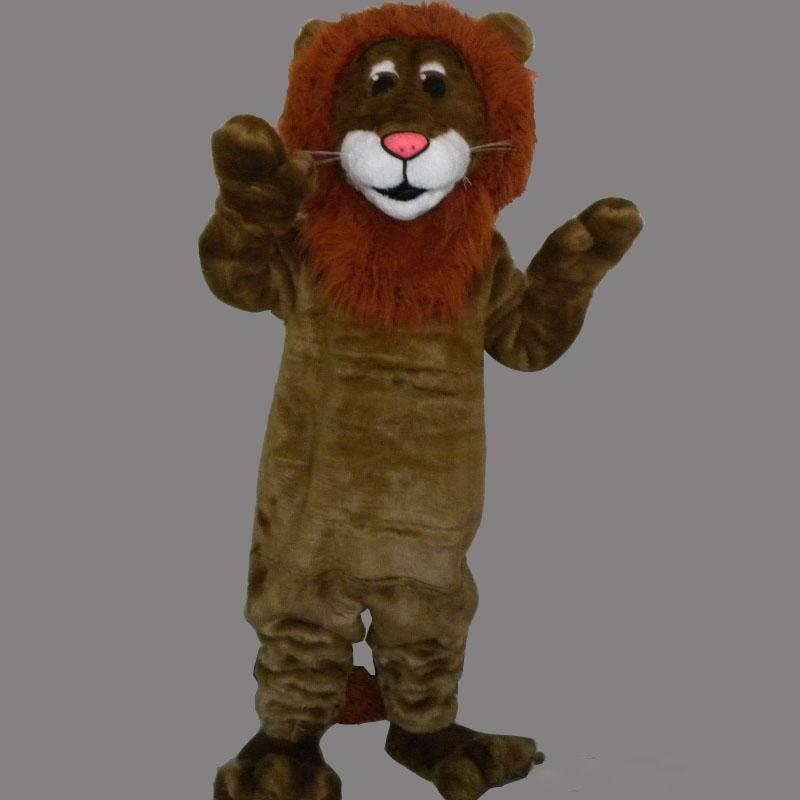 design professionale a basso prezzo autentico Formato adulto Peluche della mascotte del leone di Brown del re di Froest  costume su ordinazione del costume del partito di costume di Shool costume  ...