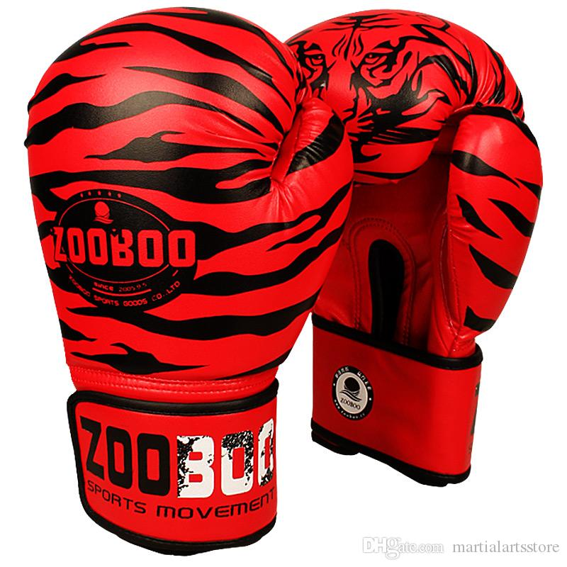1 pair retail sale professional muay thai kicking boxing glove pu leather boxing gear free shipping