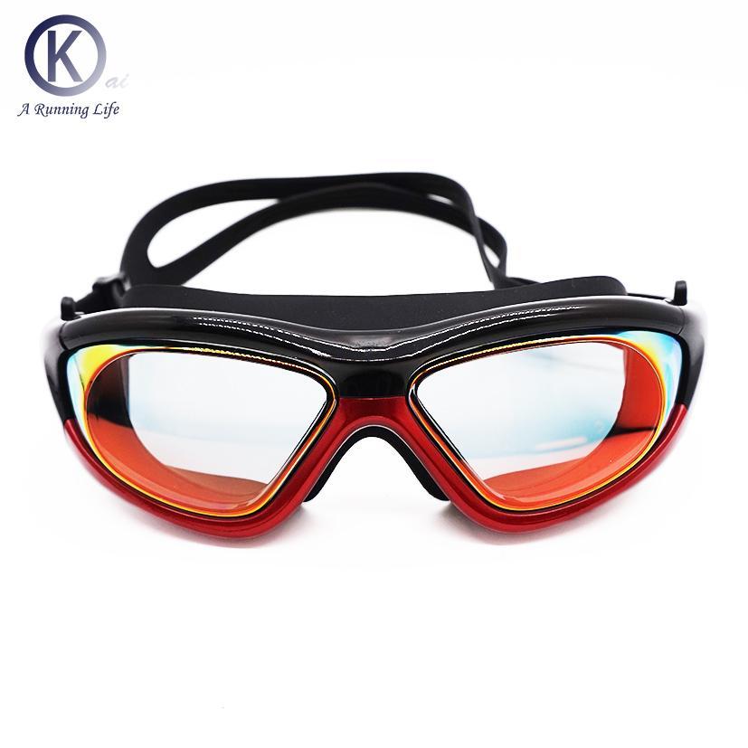 9cc95e513 Compre 5 Cores Óculos De Natação HD Chapeamento Lente Óculos De Natação Com  Caixa De Óculos Piscina Usando Mulheres   Homens De Alta Qualidade De  Huiqi02