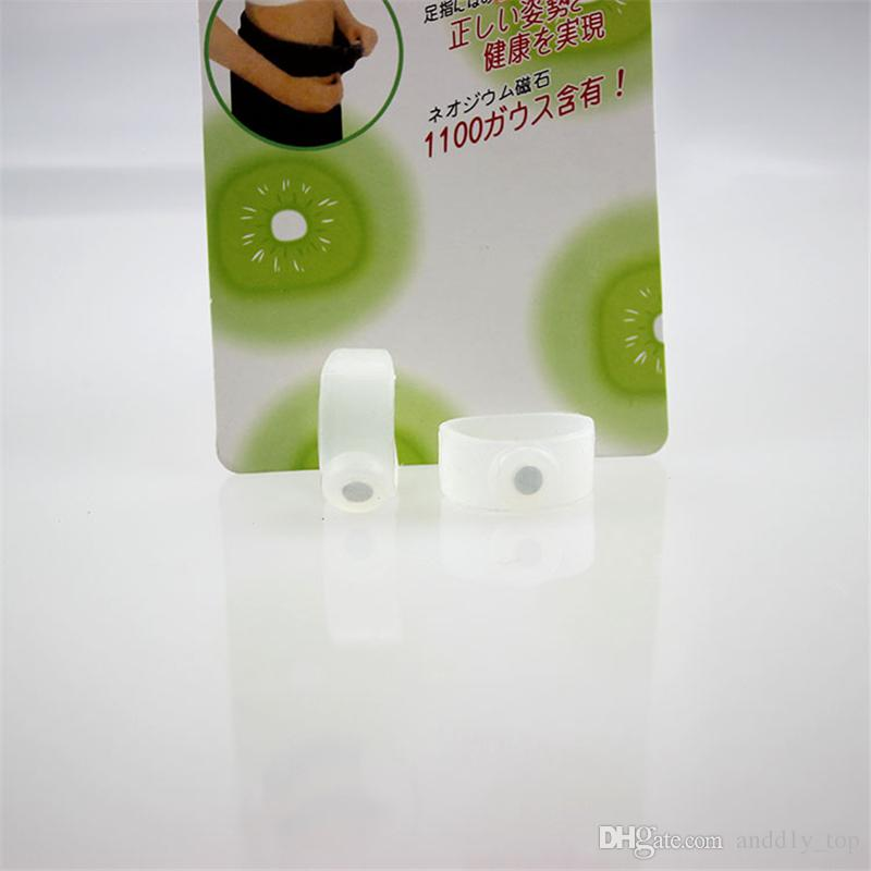Slimming toe ring with magnet Single toe ring for beauty health lose weight foot acupuncture points massage with retail package