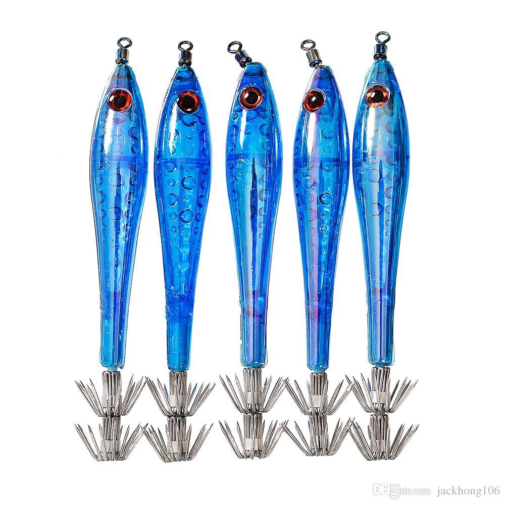 Package Squid Jigs Hook Isca Artificial Fishing Lure Octopus Luminous Squid Hook Shrimp