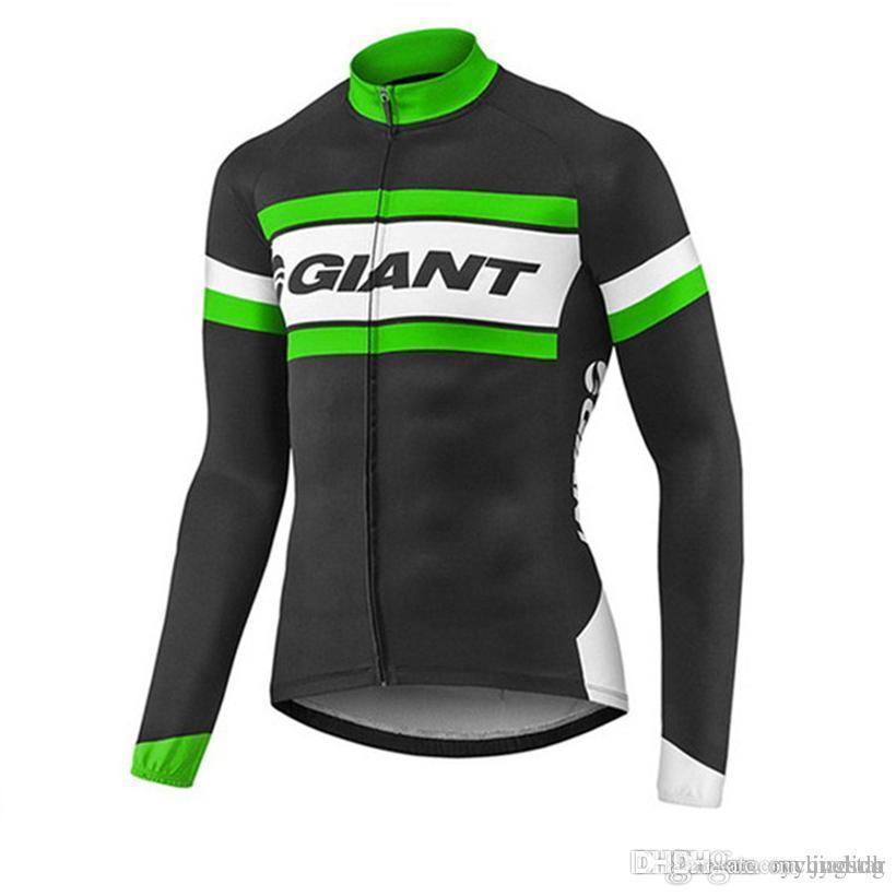 Giant Cycling Jersey 2018 Spring Autumn Men Women Long Sleeve ... 39c691530