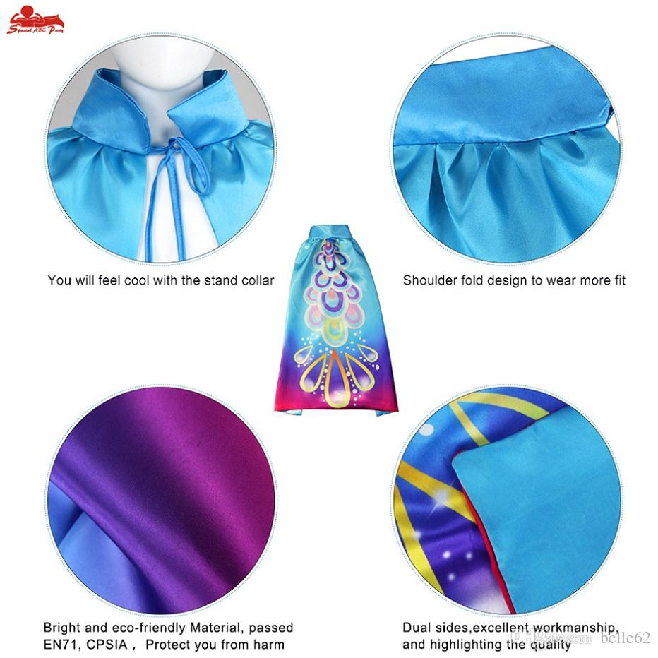 SPECIAL L 27* girls dress character party cosplay satin fabric gift standing collar cartoon costume fancy dress gifts kids toys