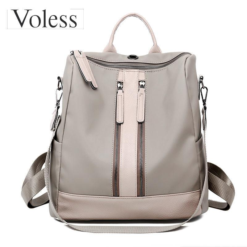 2019 Luxury Designer Women Backpack Large Capacity Ladies Oxford Backpack  Fashion Double Zipper School Bags For Teenager Girls 2018 Boys Backpacks  Hydration ... 0f7aeb3e388b2