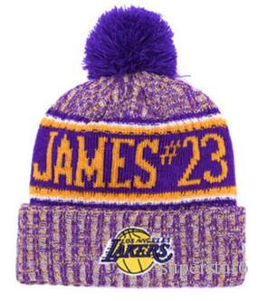 7e8c1eb83d9 Top Selling Lakers Beanie Lebron James 23 Beanies Sideline Cold Weather  Reverse Sport Cuffed Knit Hat With Pom Winer Skull Caps Dog Bow Ties Bow  Ties For ...