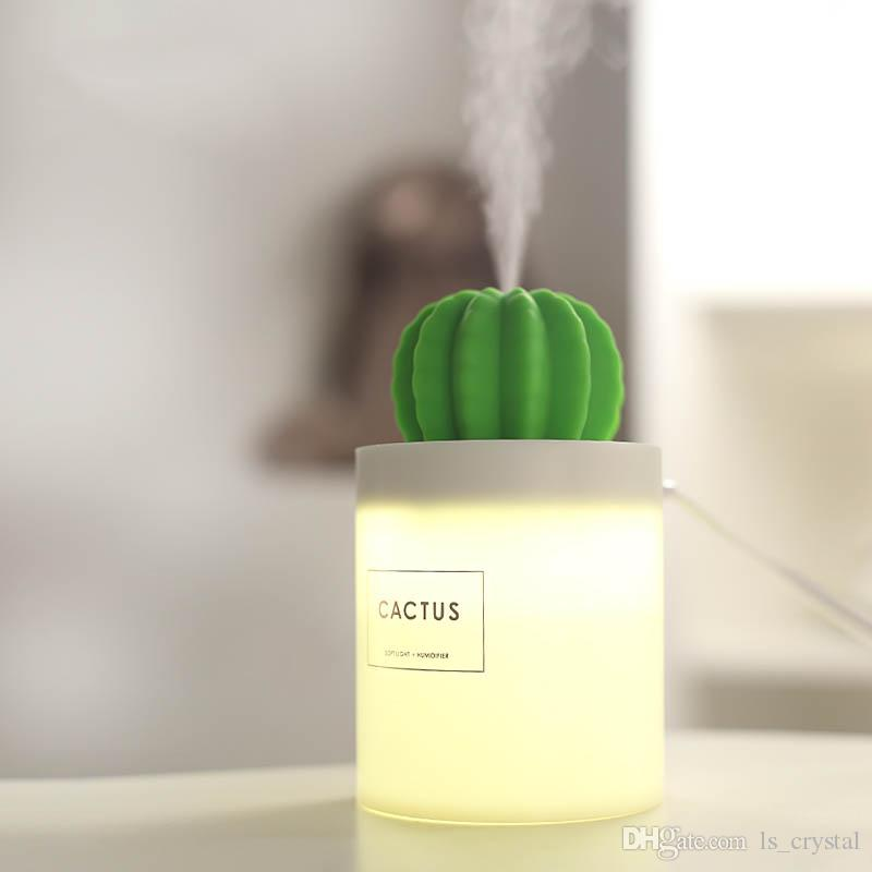 2019 mini size cactus usb cool mist humidifier with night light for rh dhgate com