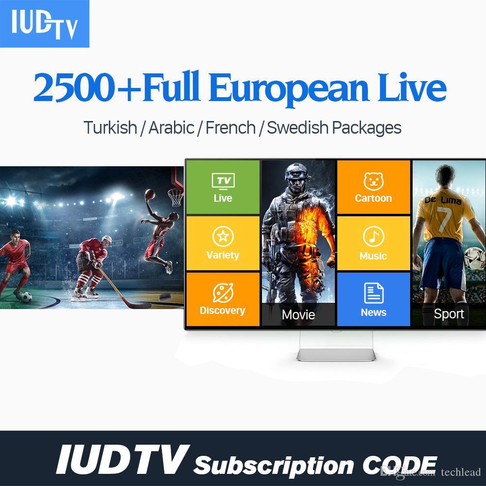 12 Month IUDTV IPTV Subscription Swedish Spanish French Portugal Dutch  Channels Arabic Greek UK TV For MAG250 TV Box M3U File APK