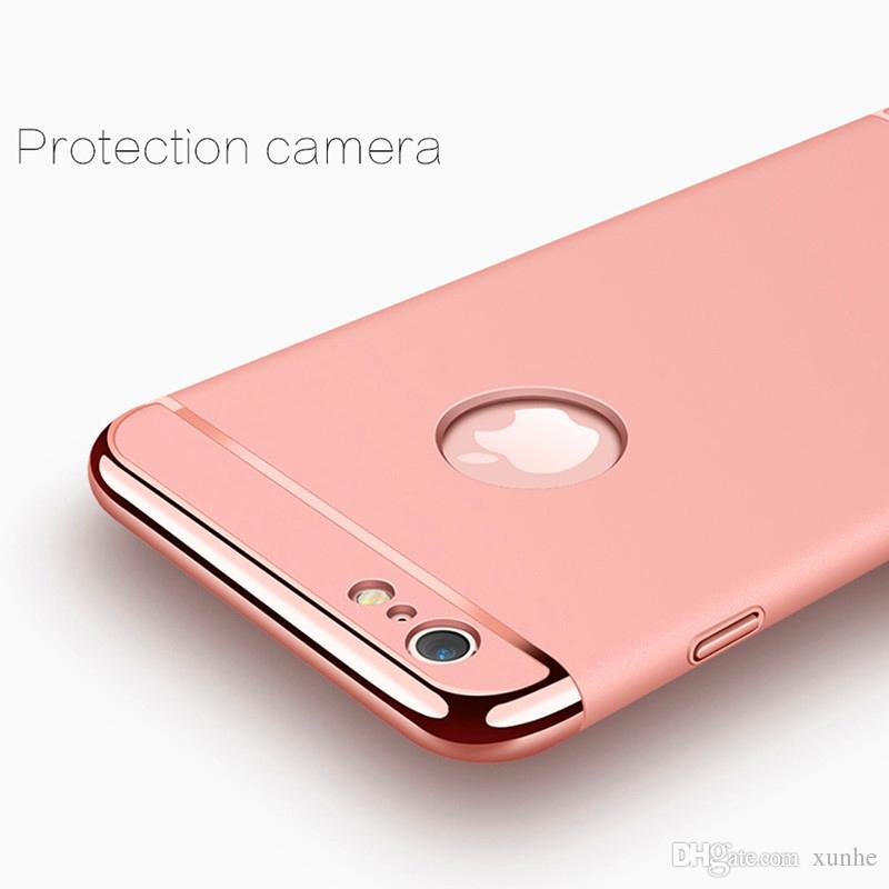 Luxury 3 in 1 Shockproof Case For iPhone X 8 7 6 6S Plus Case Hybrid Plating Armor Case for iPhone