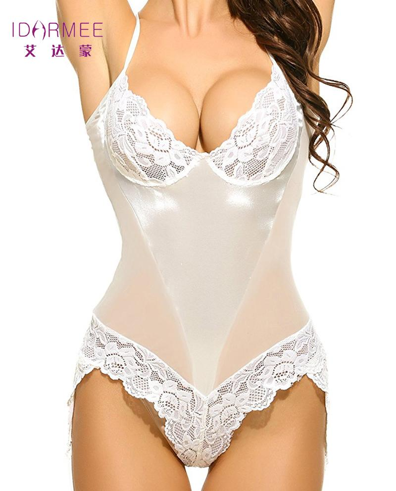 9bc9a026e9 IDARMEE Brand S6500-2 Valentine's Gift Sexy Lingerie Satin Lace Underwear  Teddies Erotic Ladies Sexy Costume Plus Size Y18102206