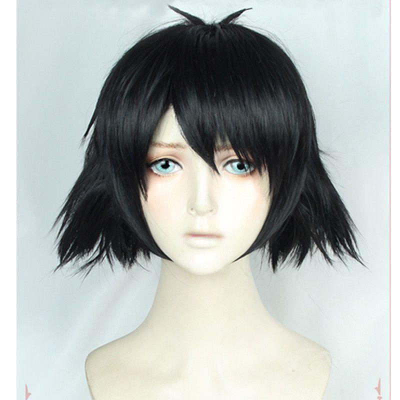 Anime Steins Gate Shiina Mayuri Short Black Styled Cosplay Costume Wig+Wig  Cap Silk Cap Wigs Full Silk Cap Lace Wig From Wofa58 3e21e1712eb7