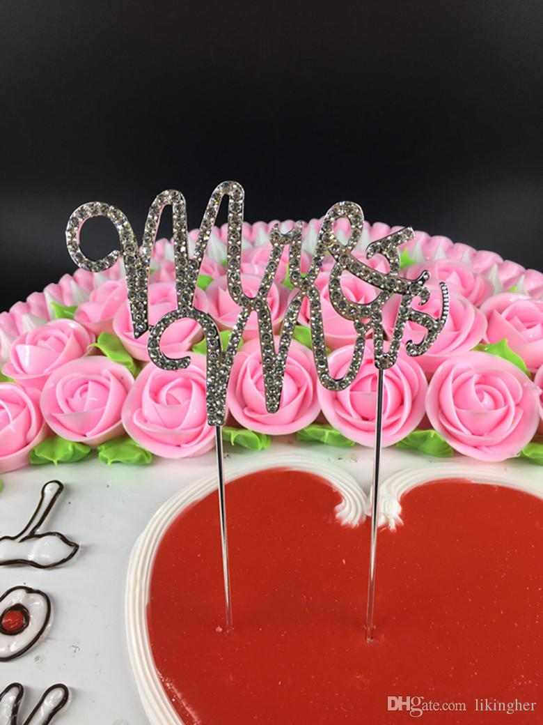 2018 Mr&Mrs,Anniversary Cake Topper, Wedding Vow And Crystal ...